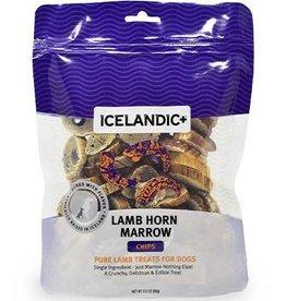 Icelandic Icelandic Lamb Horn Marrow Chips Dog  Treats 4 oz