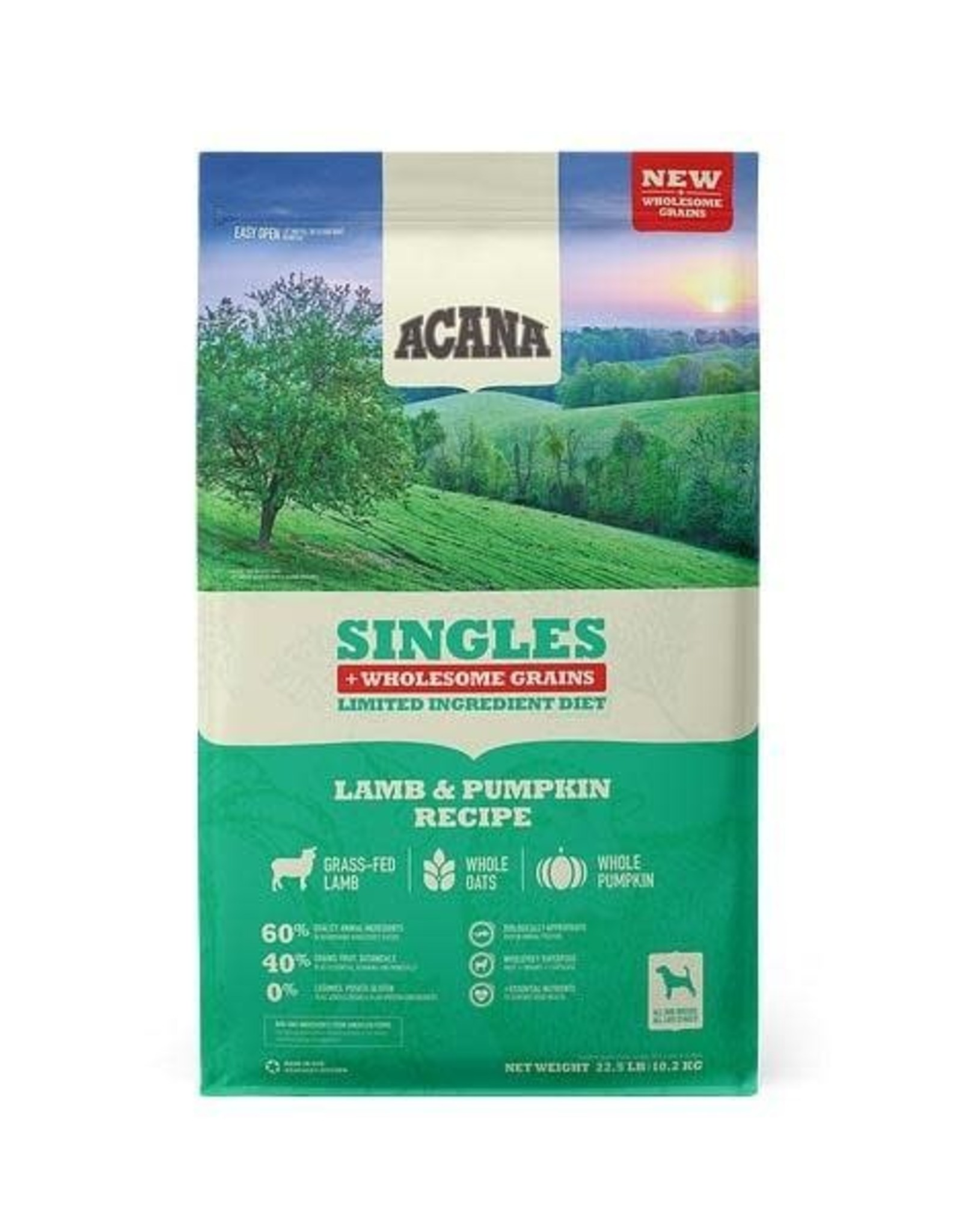 Acana Acana Wholesome Grains Lamb & Pumpkin Dry Dog Food, 22.5 lb