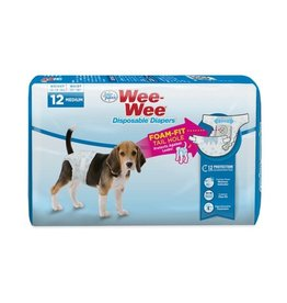 Four Paws Wee-Wee Products Disposable Dog Diapers (Medium / 12 ct