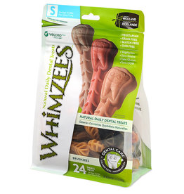 WHIMZEE WHIMZEES Brushzees Grain Free Natural Daily Dental Dog Treats Small 24 Count