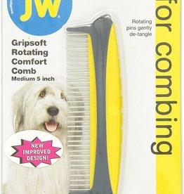 Petmate Jw Dog Grip Soft Rotating Comfort Comb 5 Inch