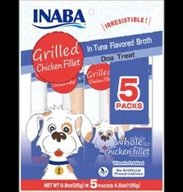 Inaba Inaba Ciao Dog Grilled Fillets Multi Pack Chicken In Tuna Broth 5 Peice
