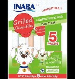 Inaba Inaba Ciao Dog Grilled Fillets Multi Pack Chicken In Seafood Broth 5 Peice