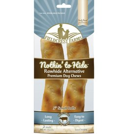 Fieldcrest Farms Fieldcrest Farms Nothin' to Hide Dog Chews, Premium, Beef Flavor, Small Rolls, 5 Inch, 2 Pack