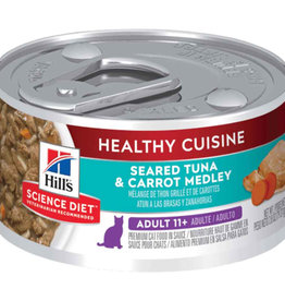 Hill's Science Pet Hill's Science Diet Adult 11+ Healthy Cuisine Seared Tuna & Carrot Medley Cat Food  2.8 oz