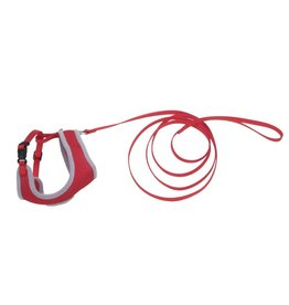 Coastal Pet Products Comfort Soft Mesh Cat Harness & Leash, Red, 11 to 14-in chest