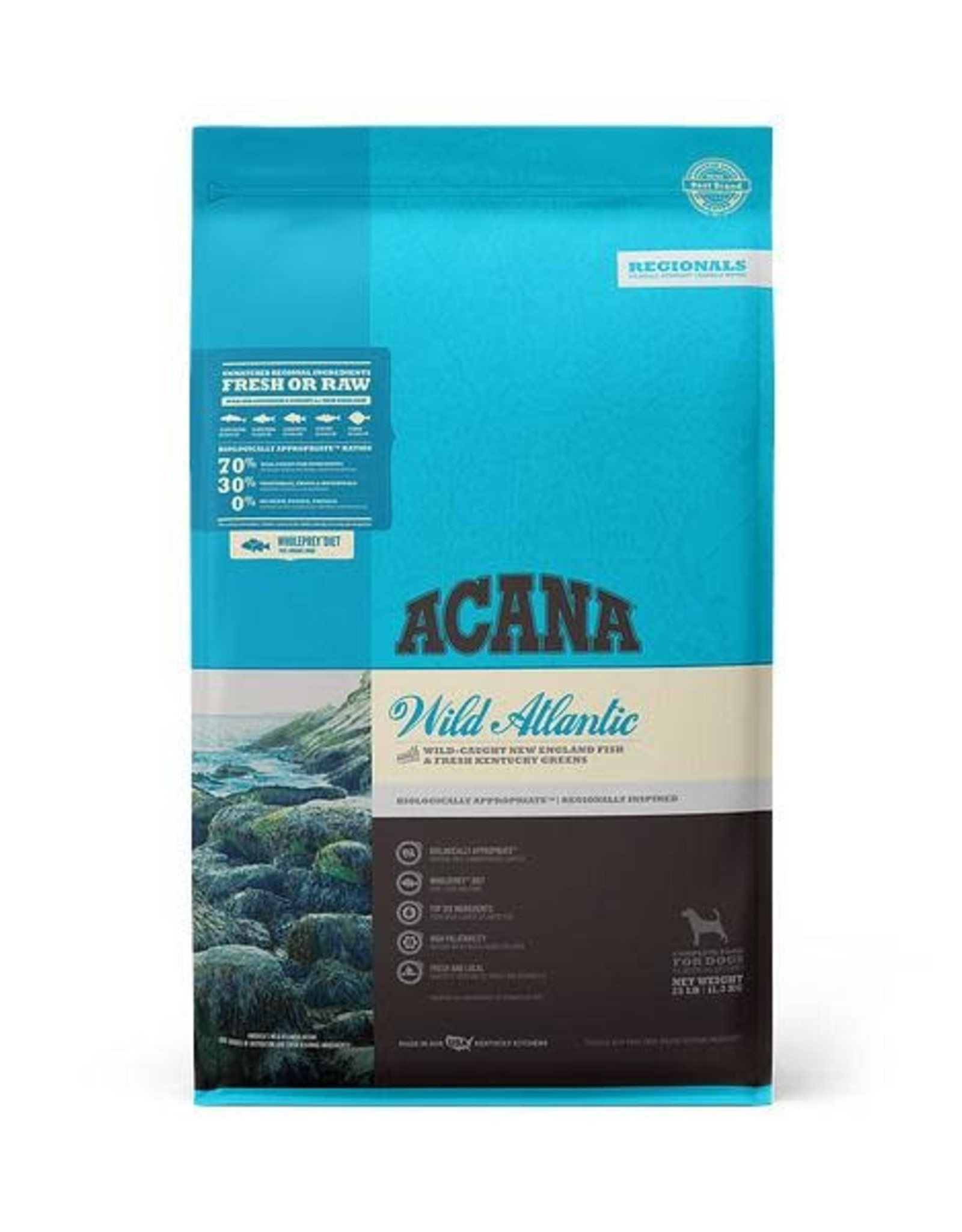 Acana Acana Wild Atlantic Grain Free High Protein Freeze-Dried Coated Fish Dry Dog Food, 25 lb