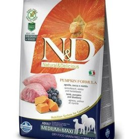 Farmina Farmina N&D Grain Free Pumpkin Adult Medium-Maxi Lamb & Blueberry 5 lb