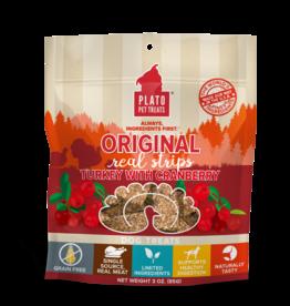 Plato Pet Treats Plato Original Real Strips Turkey & Cranberry 3 oz