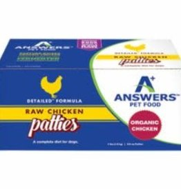 Answers Answers Dog Frozen Detailed Chicken 8 oz Patties 8 Count
