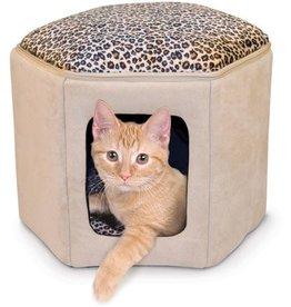 K & H Manufacturing K&H / Kitty Sleephouse / Tan/Leopard