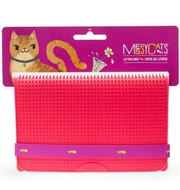 Messy Mutts Messy Cats Soft Silicone Litter Mats Red