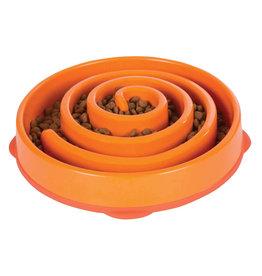 Outward Hound Outward Hound Fun Feeder Dog Bowl Orange Large