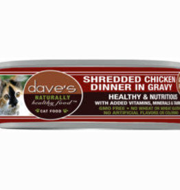 Daves Pet Food Dave's Naturally Healthy Shredded Chicken In Gravy Cat 5.5 oz