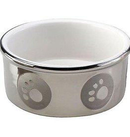 Ethical Ethical Dog Dish, Pawprint Titanium 5 Inch