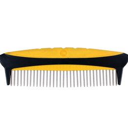 JW Products JW Pet Gripsoft Rotating Comfort Comb Fine & Coarse 8 Inch