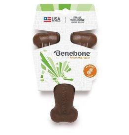 Benebone Benebone Peanut Butter Flavored Wishbone Durable Dog Chew Toy Medium