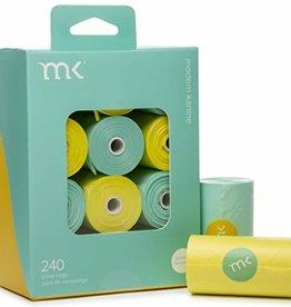 Modern Kanine Modern Kanine 240 Bags (12 Rolls) Turquoise & Yellow