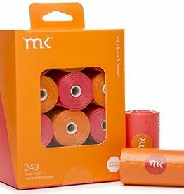 Modern Kanine Modern Kanine 240 Bags (12 Rolls) Orange & Coral