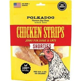Polkadog Polkadog Dog Treats, Chicken Strips, Premium, Shorties 3 oz