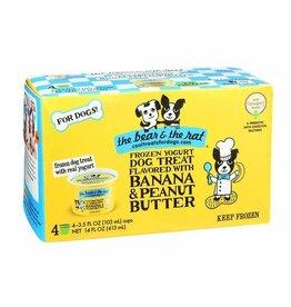 The Bear & The Rat The Bear & The Rat Banana & Peanut Butter Frozen Yogurt Dog Treats 3.5 oz 4 pack