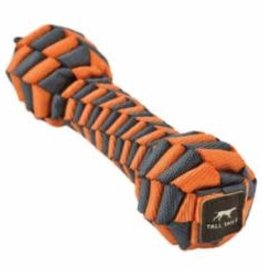 Tall Tails Tall Tails Dog Toy Braided Bone Orange & Charcoal 9