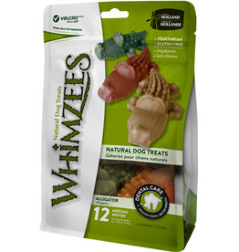 WHIMZEE Whimzees 3.4 in Alligator med  Dental Treat 12 Pieces Bag EA