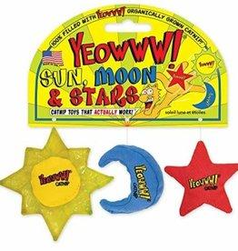 Yeowww Yeowww! Sun, Moon, Stars Catnip Cat Toys