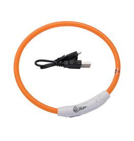 Coastal Pet Products Coastal Collar USB Light-Up Neck Ring Orange 24