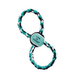 "Coastal Pet Products Life is Good® Rope Tug Ball, Blue, 12"""