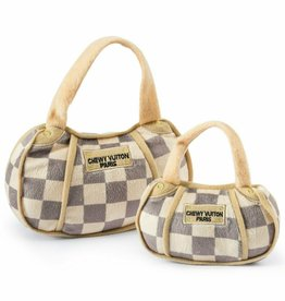 Haute Diggity Haute Diggity Dog Checker Chewy Vuiton Purse Plush Dog Toy - Large, 6''