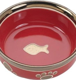 Ethical Ethical Red Ritz Copper Rim Cat Dish 5 inch