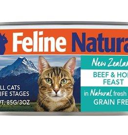K9 Natural FELINE NATURAL CAT GRAIN FREE BEEF & HOKI 3 OZ