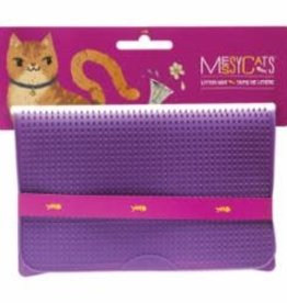 Messy Mutts Messy Mutts Cat Silicone Litter Mat Purple 17.75X12.75