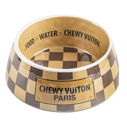 Haute Diggity Chewy Vuiton Bowl Brown