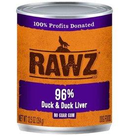Rawz Rawz 96% Duck & Liver Can Dog Food 12.5 oz