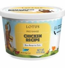 Lotus Raw Chicken Recipe for Cats 16 oz