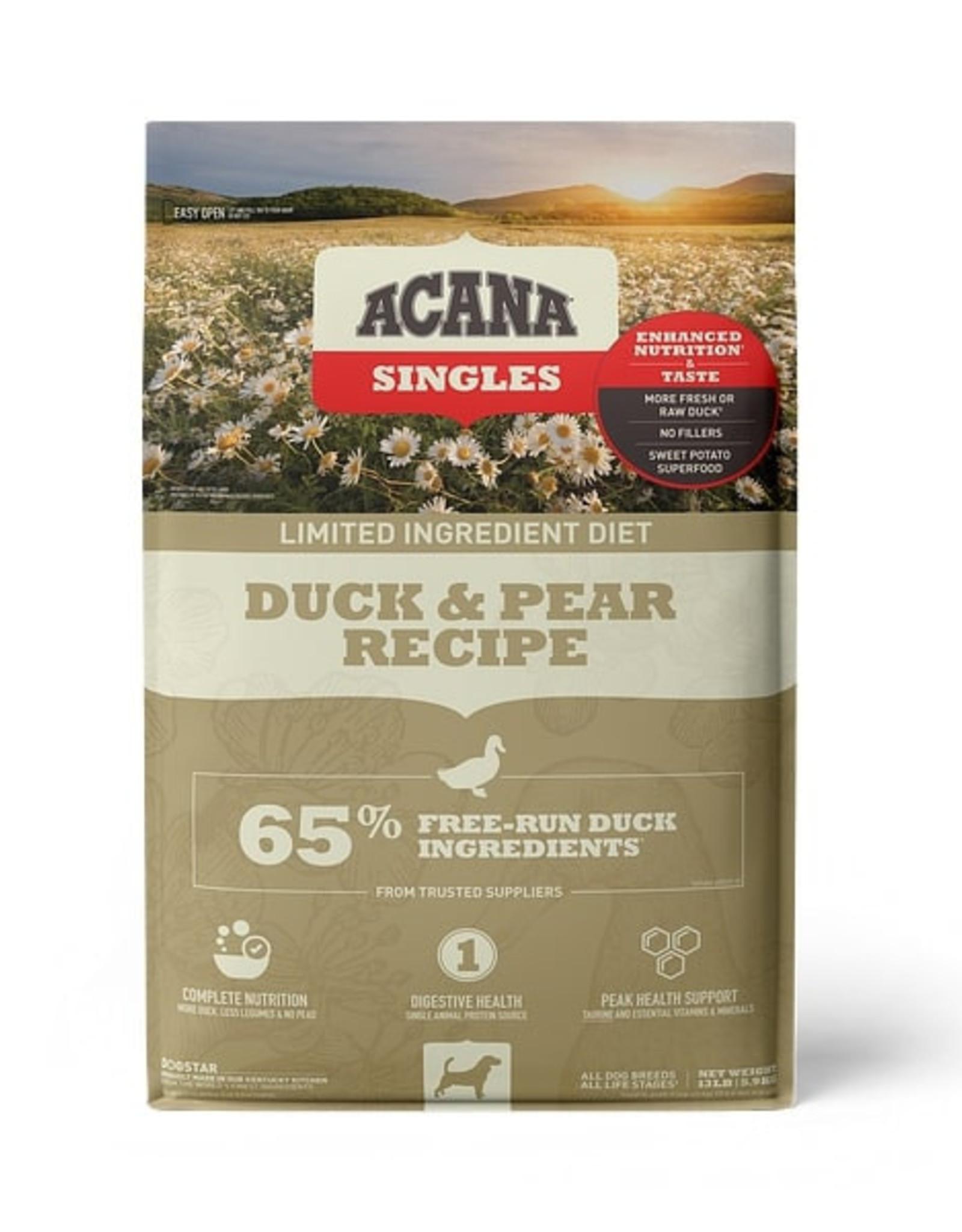 Acana ACANA Singles Limited Ingredient Duck & Pear Grain-Free Dry Dog Food, 13-lb bag