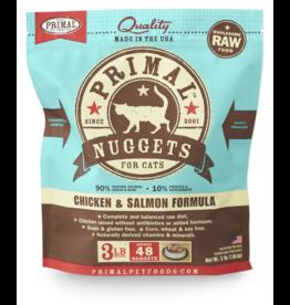 Primal Primal Chicken & Salmon Formula Nuggets Grain-Free Raw Frozen  Cat Food 3 LB