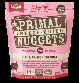 Primal Primal Beef & Salmon Formula Nuggets Grain-Free Raw Freeze-Dried Cat Food 14 OZ