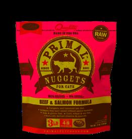 Primal Primal Beef & Salmon Formula Nuggets Grain-Free Raw Frozen Cat Food 3 LB