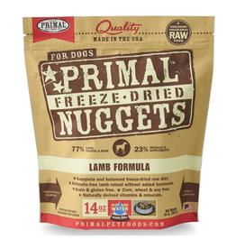 Primal Primal Lamb Formula Nuggets Grain-Free Raw Freeze-Dried Dog Food 14 OZ