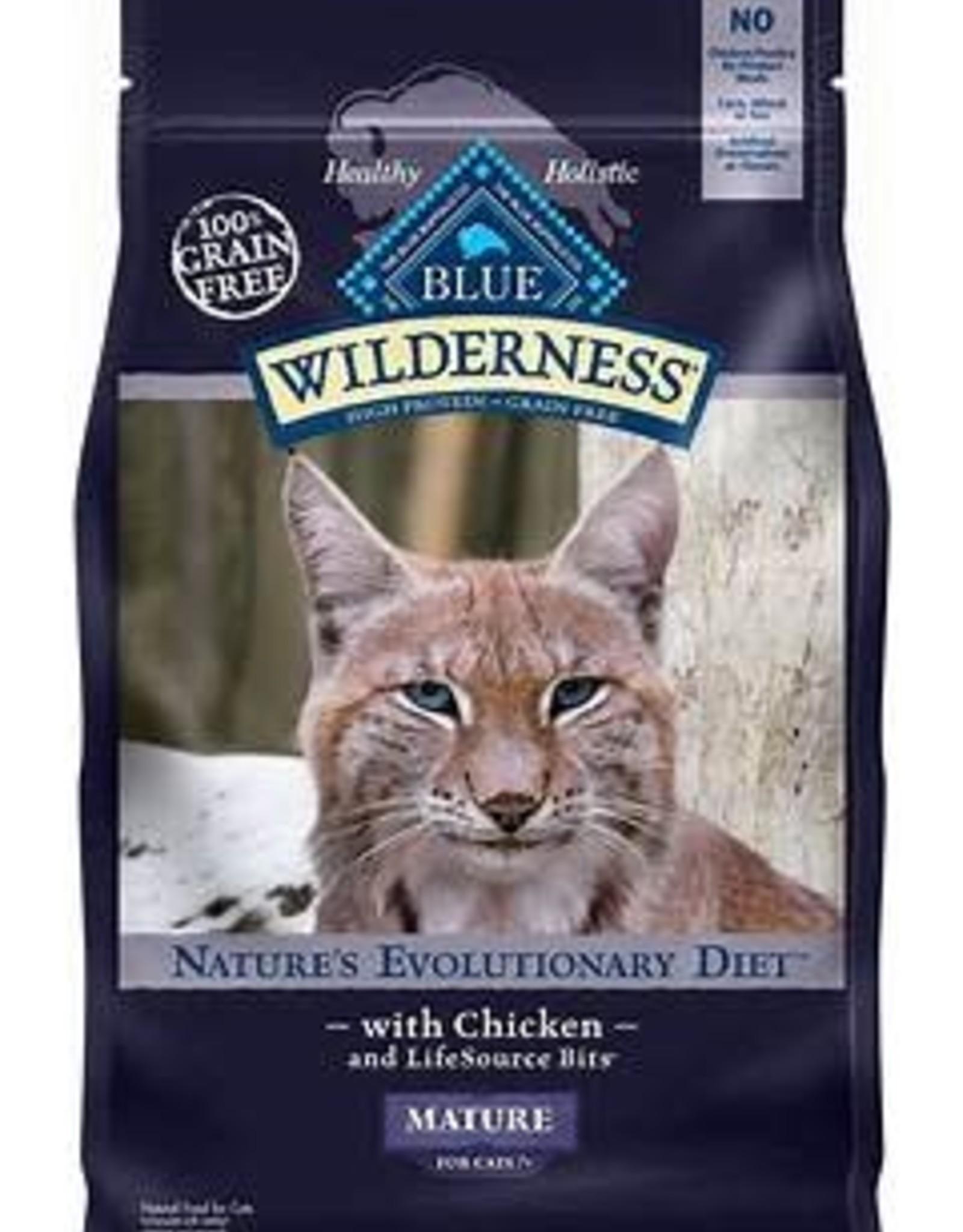 Blue Buffalo Blue Buffalo Wilderness Mature Grain Free Chicken Dry Cat Food 5-lb