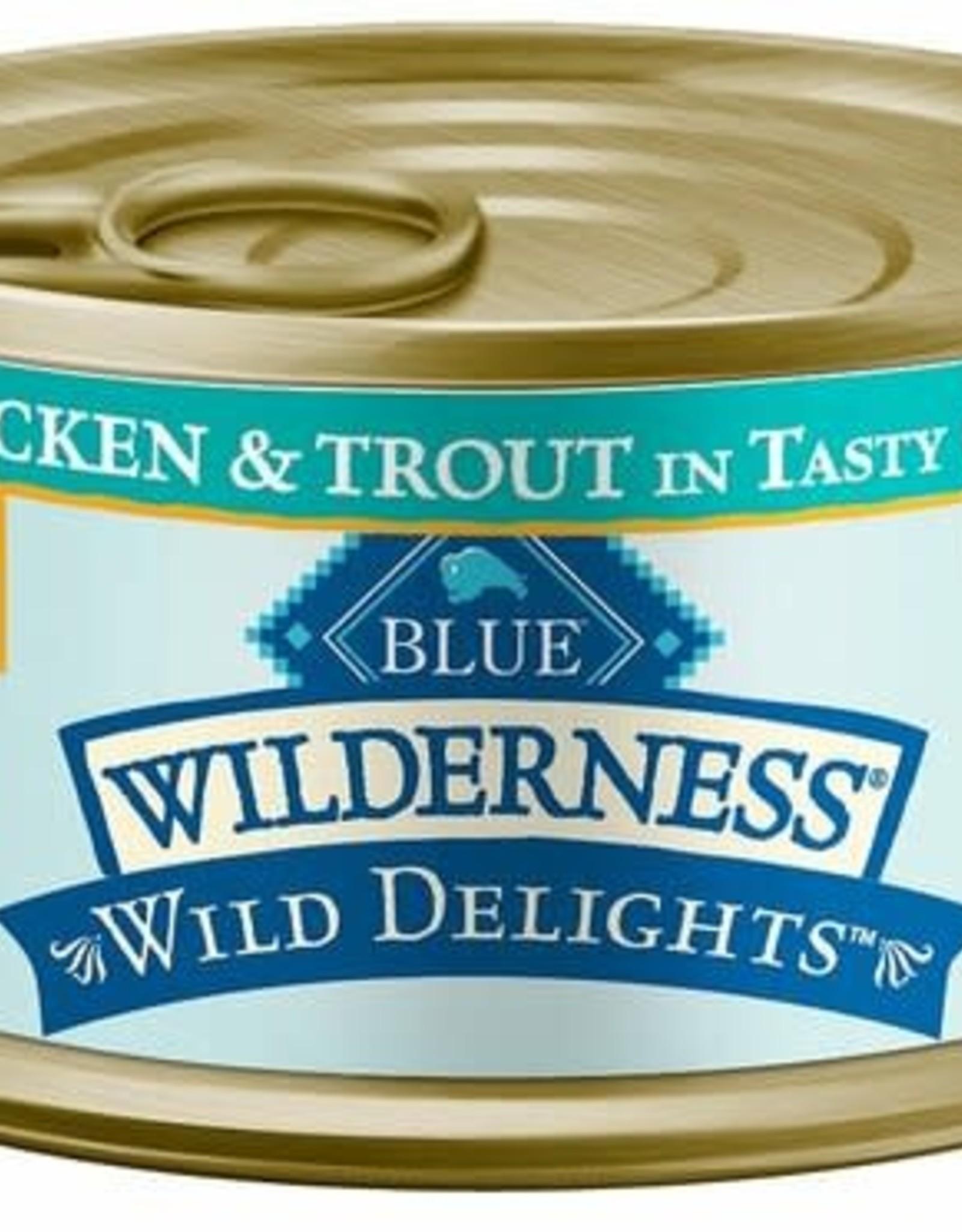 Blue Buffalo Blue Buffalo Cat Wilderness Delight Flaked Chicken & Trout - 3 oz can