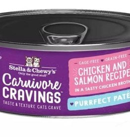 Stella & Chewys STELLA & CHEWY'S CAT CARNIVORE CRAVINGS PATE CHICKEN & SALMON 2.8OZ