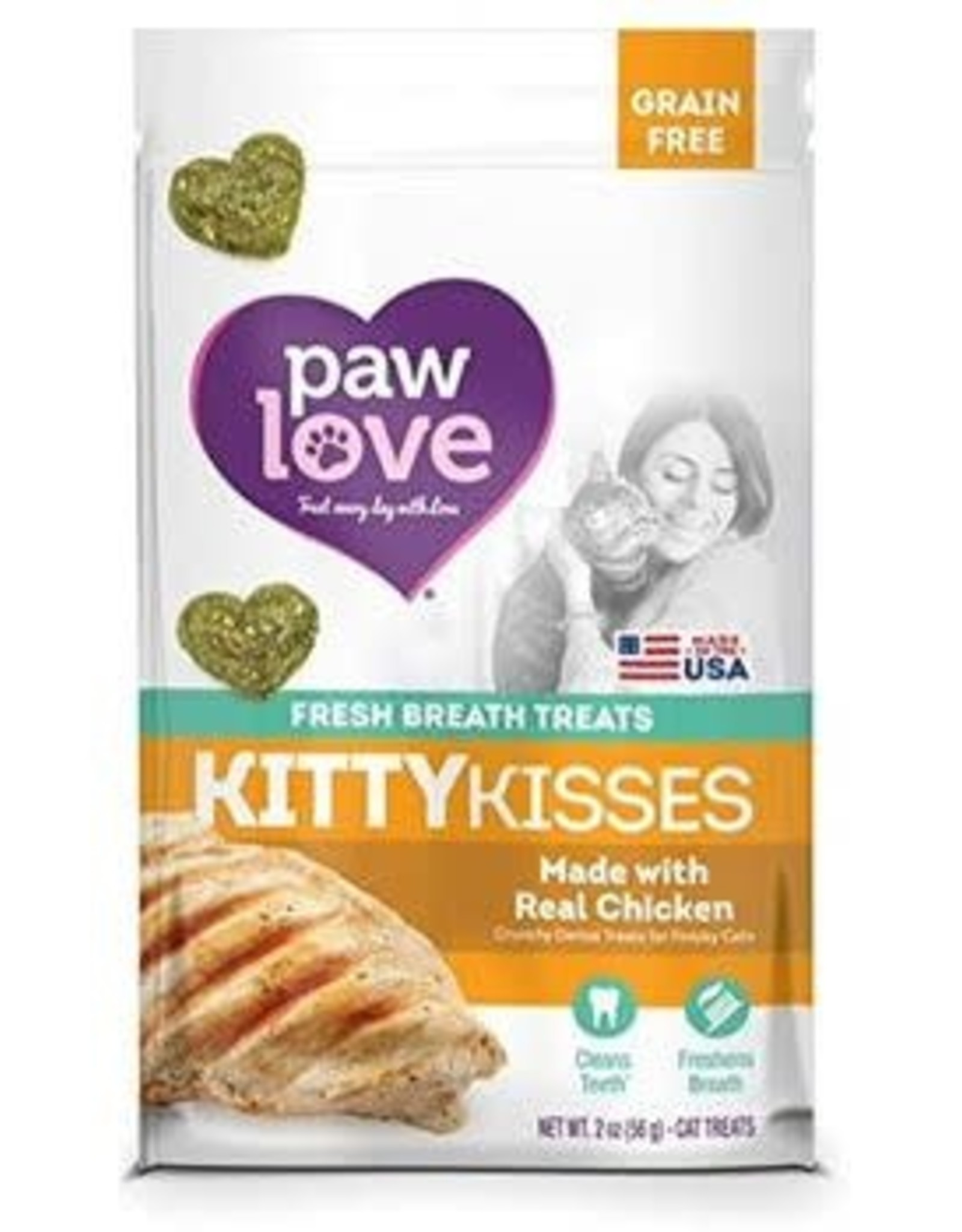 Barkworthies BARKWORTHIES CAT KITTY KISS GRAIN FREE CHICKEN 2OZ