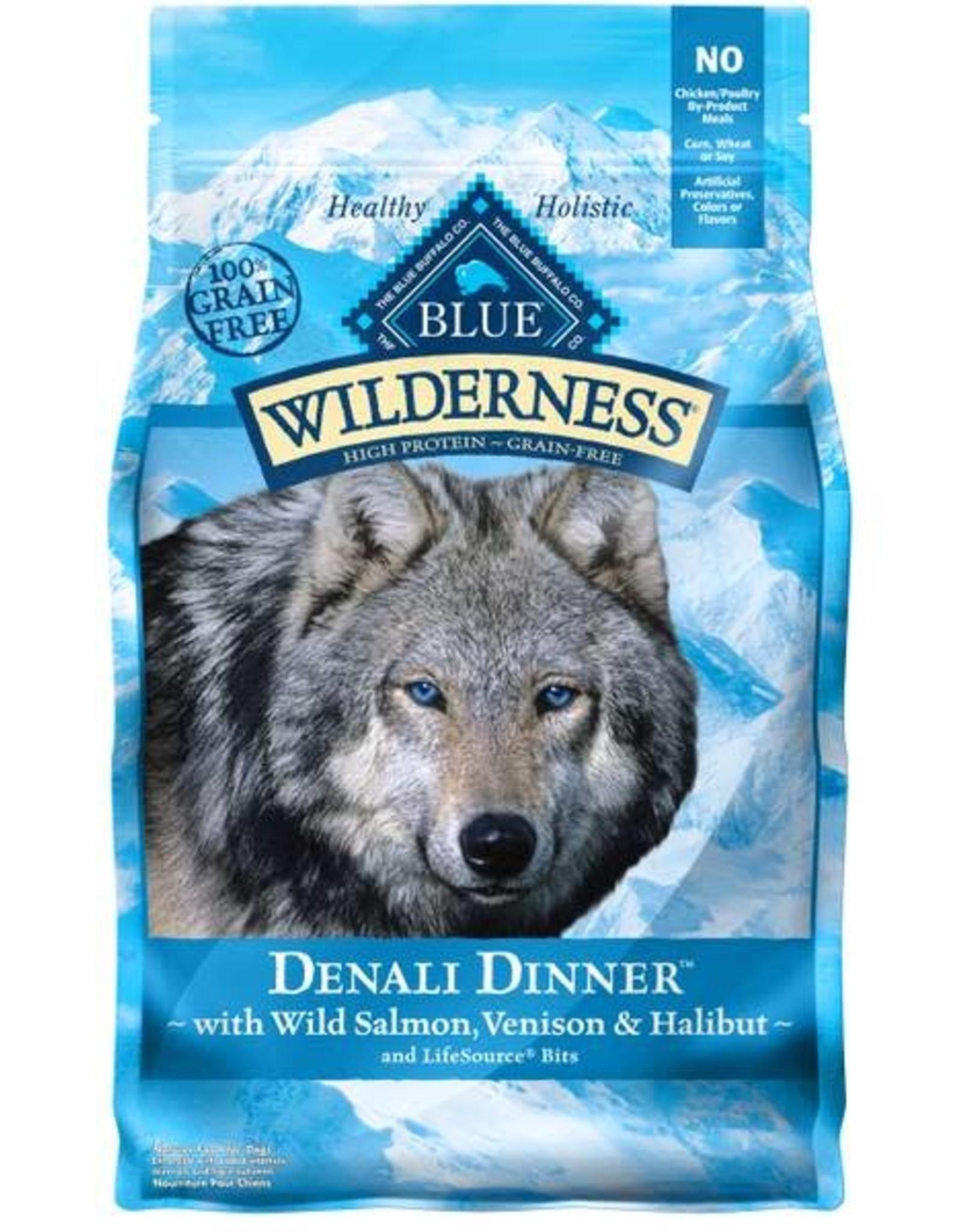 Blue Buffalo Blue Buffalo  Wilderness Food for Dogs, Denali Dinner, with Wild Salmon, Venison & Halibut 4 lb