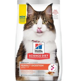 Hill's Science Pet Hill's Science Diet Adult Perfect Digestion Chicken Cat Dry Food, 3.5-lb