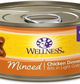 Wellness Wellness 5.5 oz Cat Can Minced  Chicken Dinner 24/CS