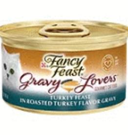 NESTLE PURINA PETCARE COMPANY FANCY FST CAT CAN GRVY TURKEY, 3 oz